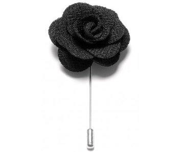 Lapel Pin Flower Black
