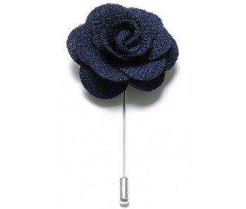 Lapel Pin Flower Navy