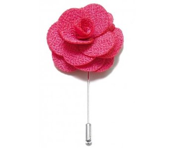 Lapel Pin Flower Coral