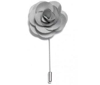 Lapel Pin Flower Silver