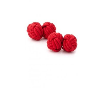 Manschettenknöpfe Knoten rot