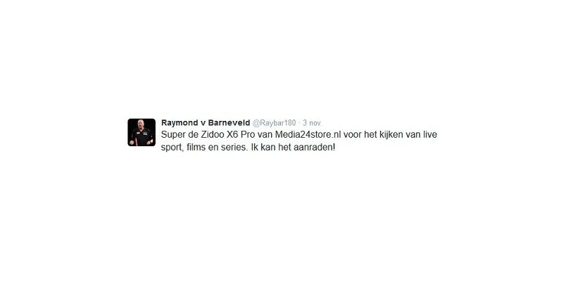 Raymond van Barneveld test Zidoo X6 Pro