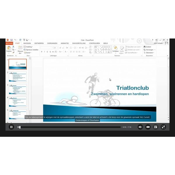 PowerPoint ELEARNING TRAINING POWERPOINT 2010 BASIS CURSUS ONLINE