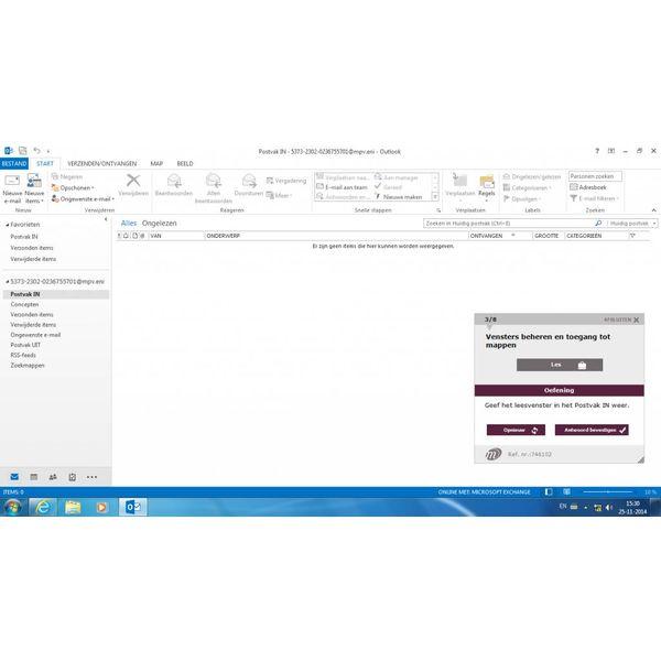 Outlook ONLINE TRAINING OUTLOOK 2013 BASIS/GEVORDERD/EXPERT CURSUSPAKKET INCL. CURSUSBOEK