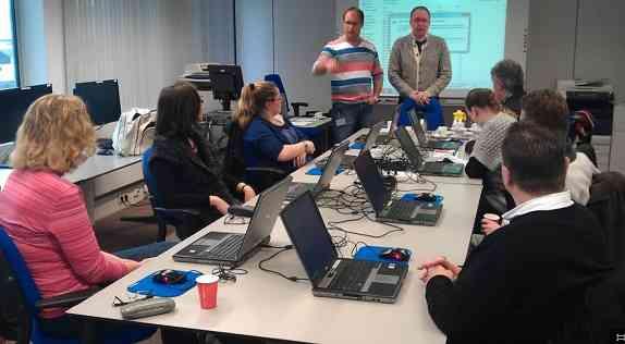 Foto klassikale training Microsoft Office Migratie 2013