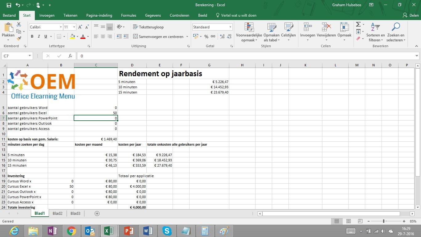 Besparen met Microsoft Office