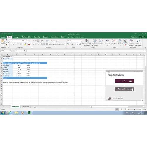 Excel Cursuspakket Excel 2016 Basis/Gevorderd/Expert