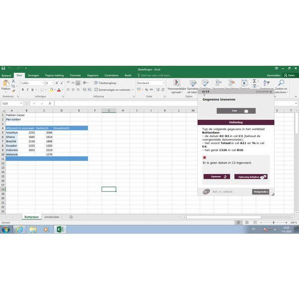 Excel ELEARNING CURSUS EXCEL 2016 BASIS EN GEVORDERD ONLINE