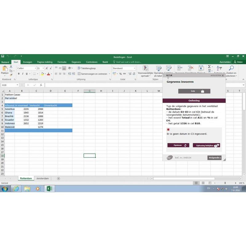 Excel ELEARNING CURSUS EXCEL 2016 MAATWERK ONLINE