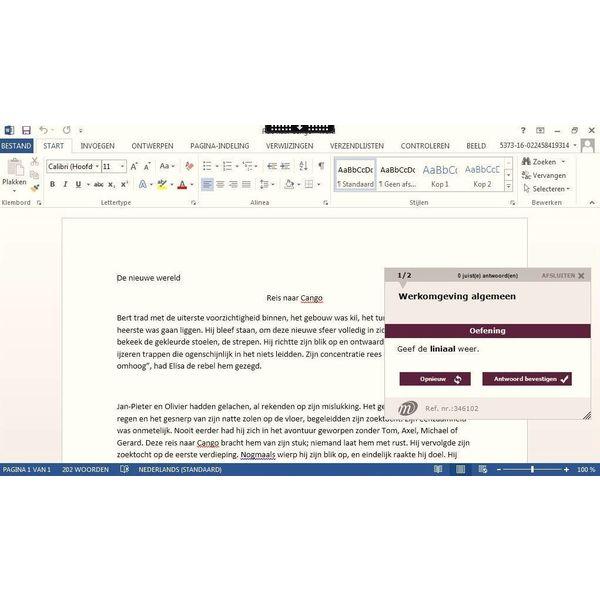 Word MOS WORD 2016 (77-725) CERTIFICERINGSPAKKET