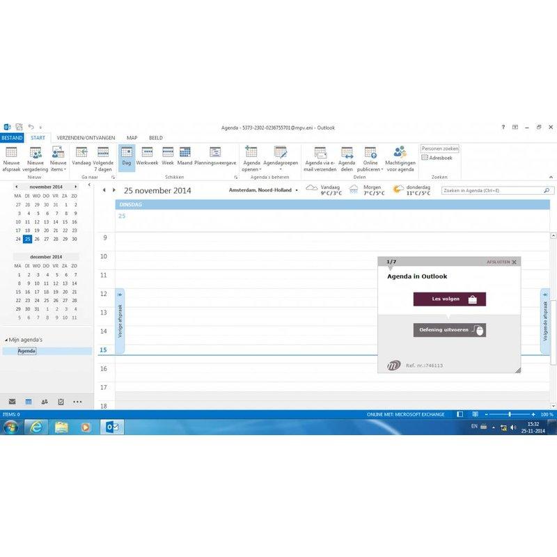 Outlook ONLINE TRAINING OUTLOOK 2016 BASIS/GEVORDERD/EXPERT CURSUSPAKKET INCL. CURSUSBOEK