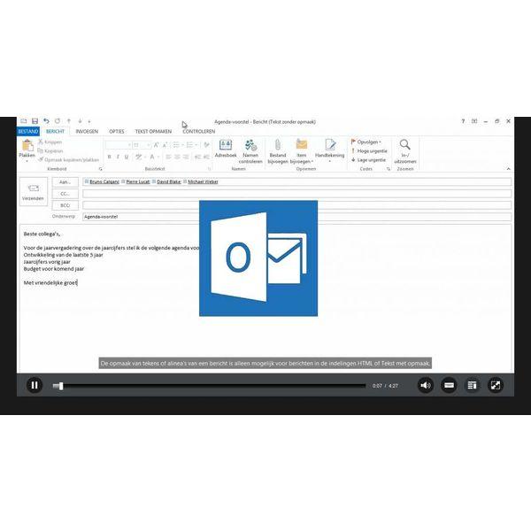 Outlook ELEARNING TRAINING OUTLOOK 2013 MAATWERK CURSUS ONLINE