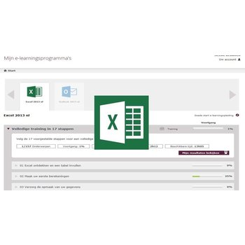 Excel E-learning Excel 2013 Basis