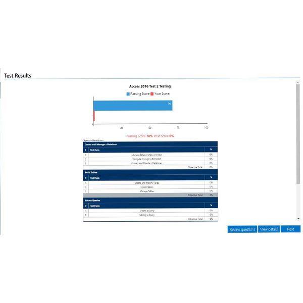 Access GMETRIX MOS 77-730 ACCESS 2016 PROEFEXAMEN