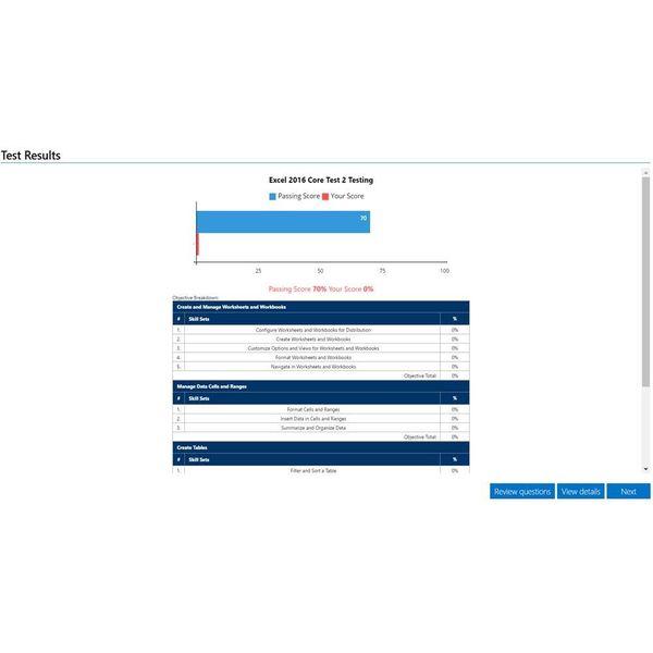 Excel GMETRIX MOS 77-727 EXCEL 2016 PROEFEXAMEN