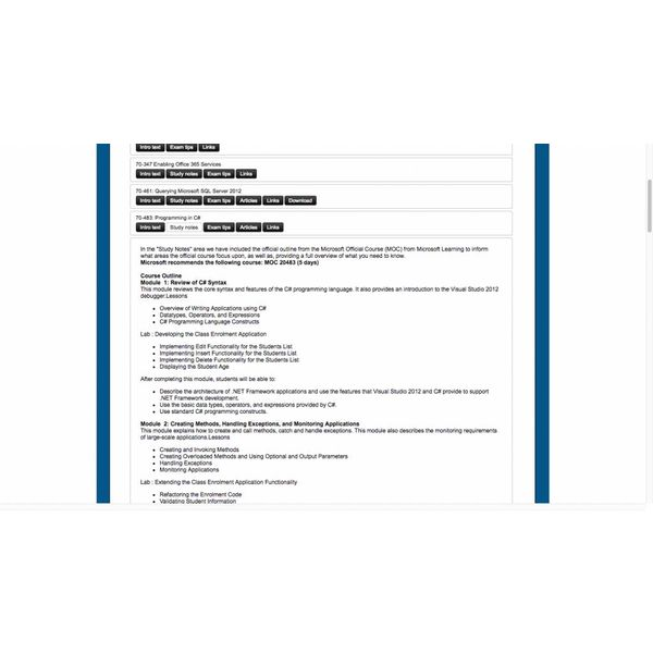 Online training 70-532: Developing Microsoft Azure Solutions