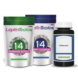 Leptin Teatox pakket 14 dagen + Fatburner