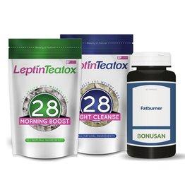 Leptin Teatox pakket 28 dagen + Fatburner
