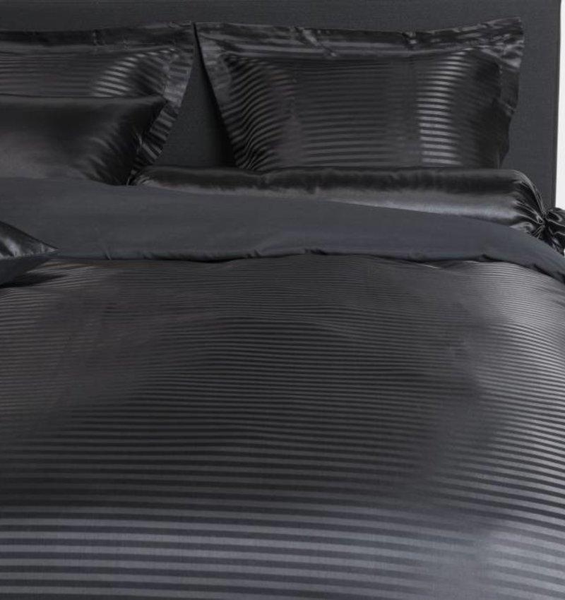 Nightlife Silk Bettwäsche Satin Stripe Schwarz