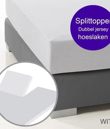 Ambianzz Split Topper Bettlaken / Spannbetttuch Weiss