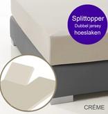 Ambianzz Split Topper Bettlaken / Spannbetttuch Creme
