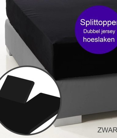 Ambianzz Split Topper Bettlaken / Spannbetttuch Schwarz