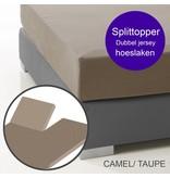 Ambianzz Split Topper Bettlaken / Spannbetttuch Braun
