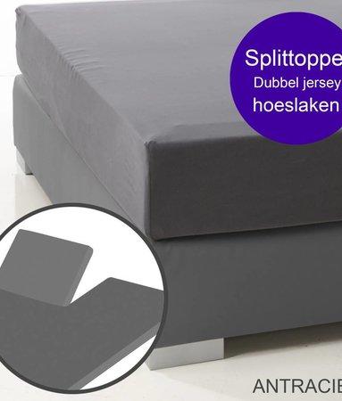Ambianzz Split Topper Bettlaken / Spannbetttuch Dunkelgrau