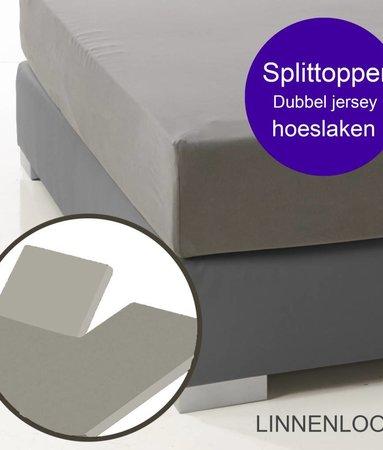 Ambianzz Split Topper Bettlaken / Spannbetttuch Leinen-look
