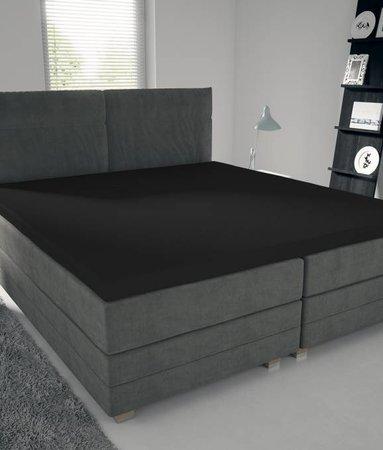 Nightlife Jersey Topper Bettlaken / Spannbetttuch 150 gramm Schwarz