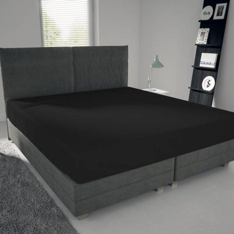Nightlife Jersey Bettlaken / Spannbetttuch 150 gramm Schwarz