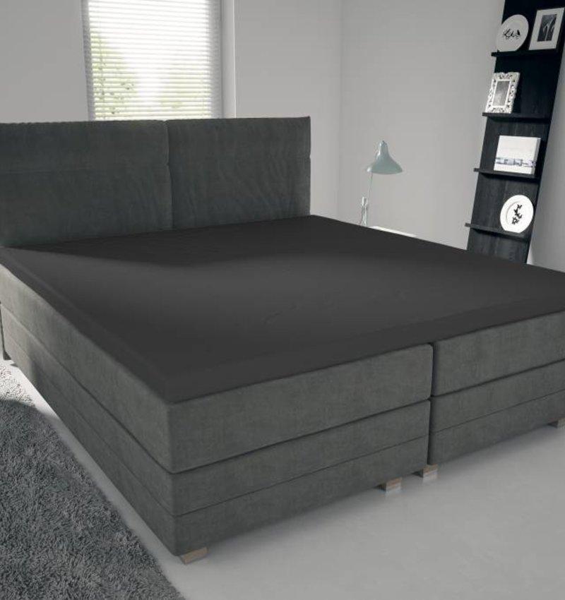 Nightlife Jersey Topper Bettlaken / Spannbetttuch 150 gramm Dunkelgrau