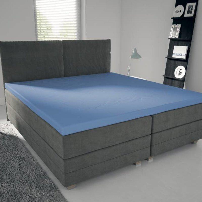 Nightlife Jersey Topper Bettlaken / Spannbetttuch 150 gramm Blau