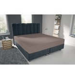 Nightlife Blue Bettlaken / Spannbettuch Doppel Jersey Interlock Braun