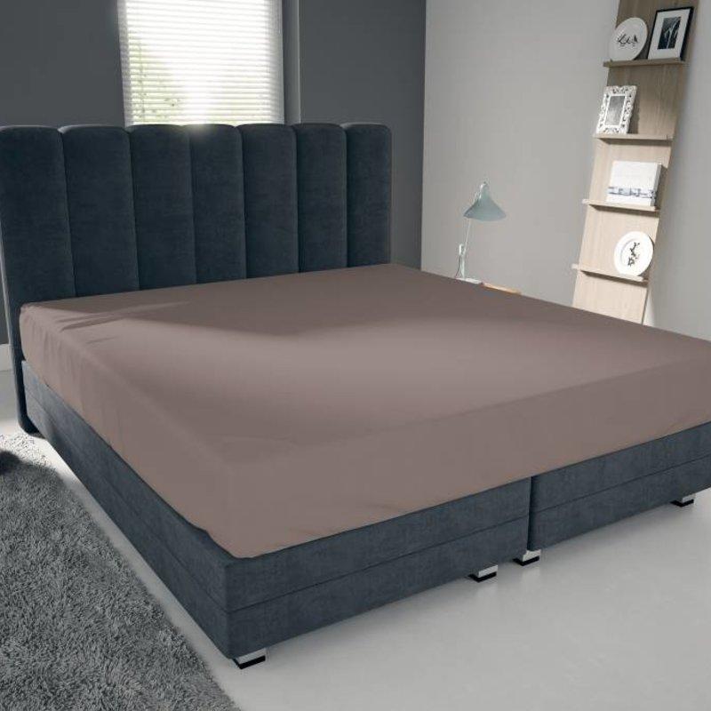 Nightlife Blue Bettlaken / Spannbettuch Doppel Jersey Interlock Braun