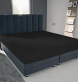 Nightlife Blue Bettlaken / Spannbettuch Doppel Jersey Interlock Schwarz
