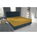Nightlife Blue Bettlaken / Spannbettuch Doppel Jersey Interlock Gelb