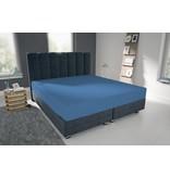 Nightlife Blue Bettlaken / Spannbettuch Doppel Jersey Interlock Blau