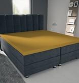 Nightlife Blue Bettlaken / Spannbettuch Doppel Jersey Interlock Gelb Topper