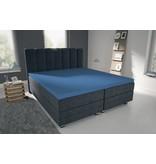 Nightlife Blue Bettlaken / Spannbettuch Doppel Jersey Interlock Blau Topper