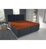 Nightlife Blue Bettlaken / Spannbettuch Doppel Jersey Interlock Kupfer Topper
