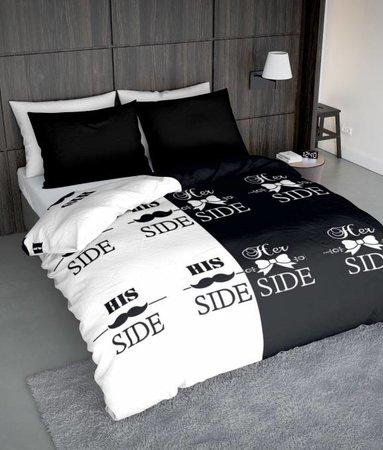 Wake-Up! Bedding Bettwäsche Snorry Weiss - DE - 135x200 - 80x80 (1) mit Reissverschluss