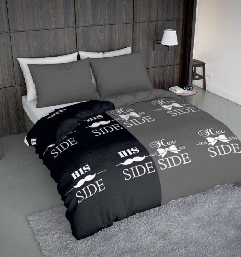 Wake-Up! Bedding Bettwäsche Snorry Grau - DE - 135x200 - 80x80 (1) mit Reissverschluss
