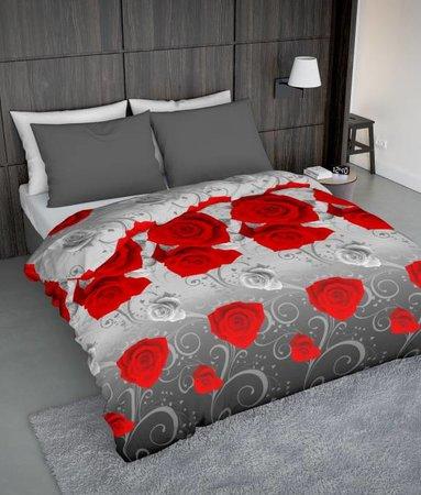 Wake-Up! Bedding Bettwäsche Rosie Rot - DE - 135x200 - 80x80 (1) mit Reissverschluss