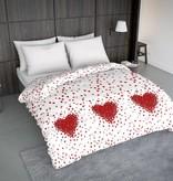 Wake-Up! Bedding Bettwäsche Rose Heart Rot - DE - 135x200 - 80x80 (1) mit Reissverschluss