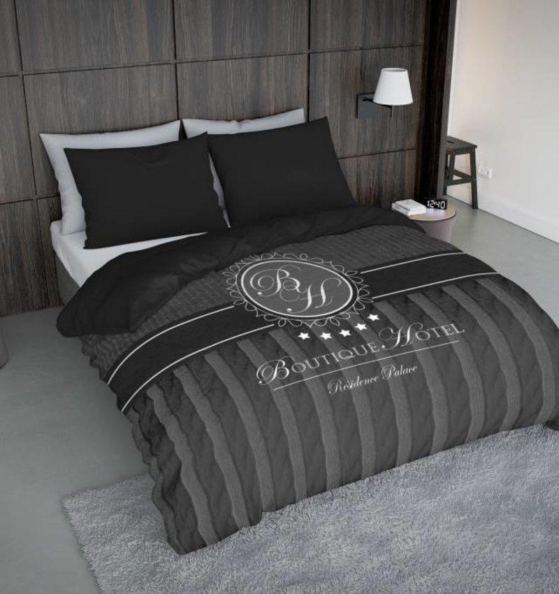Nightlife Concept Bettwäsche Boutique Hotel Dunkelgrau  - DE - 135x200 - 80x80 (1) mit Reissverschluss