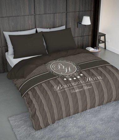 Nightlife Concept Bettwäsche Boutique Hotel Braun  - DE - 135x200 - 80x80 (1) mit Reissverschluss