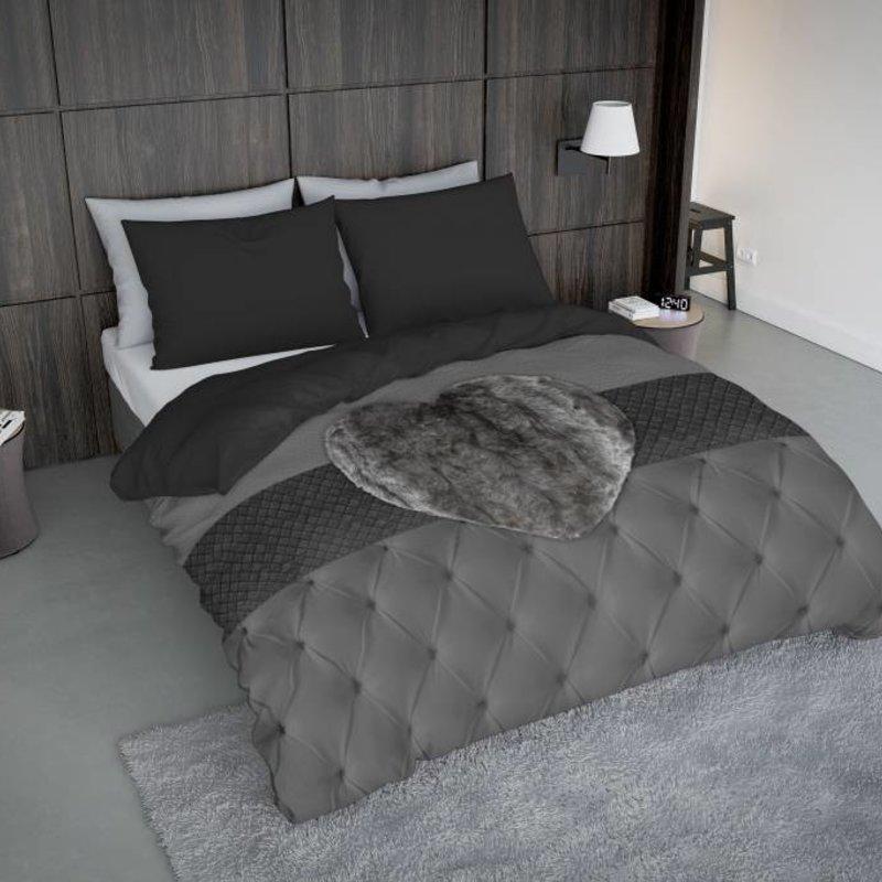 Nightlife Concept Bettwäsche Fur Heart Grau - DE - 80x80 mit Reissverschluss