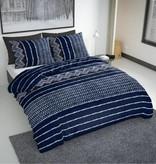 Nightlife Bettwäsche Indigo Blau  - DE - 135x200 - 80x80 (1) mit Reissverschluss