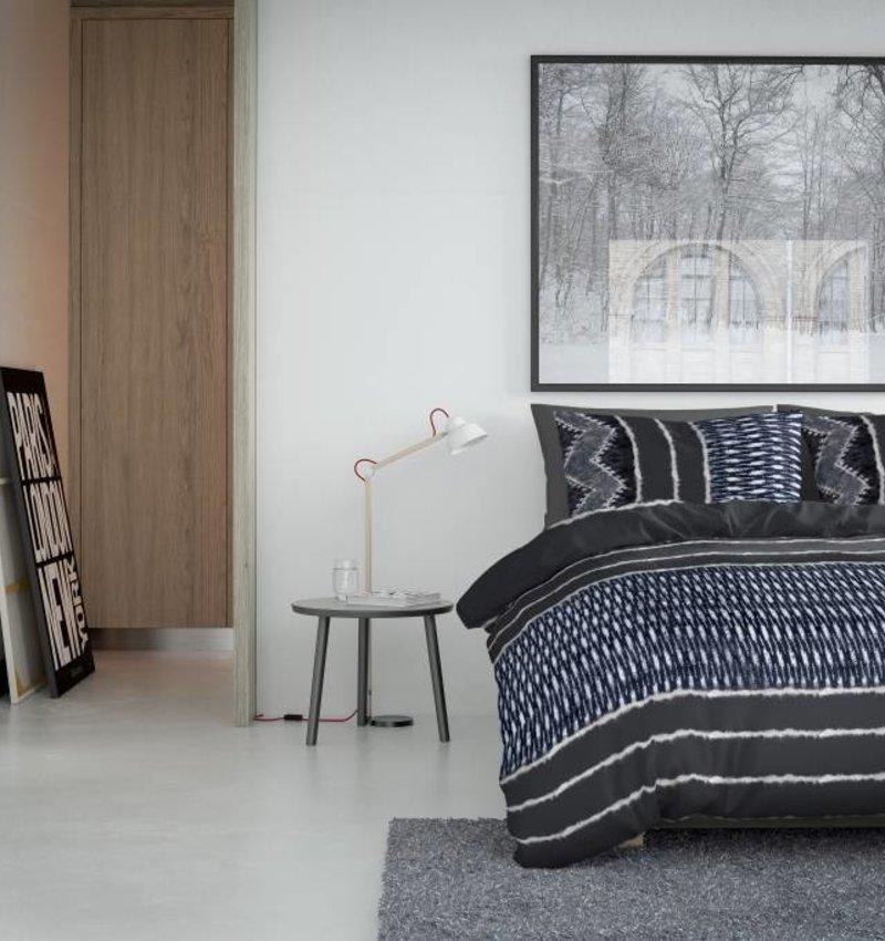 Nightlife Bettwäsche Indigo Grau  - DE - 135x200 - 80x80 (1) mit Reissverschluss